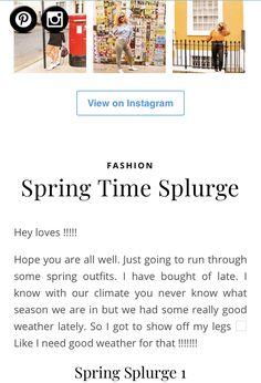 Hey Love, I Know, Spring Time, Instagram Fashion, Spring Outfits, Spring Fashion, About Me Blog, Stuff To Buy, Fashion Spring