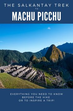 This guide will provide everything you need to know about hiking Salkantay Trek to Machu Pichu and compare it to other trekking options to Machu Picchu. Travel Route, Peru Travel, Solo Travel, Asia Travel, South America Destinations, South America Travel, Travel Destinations, Most Visited Sites, Brazil Travel
