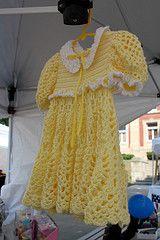 "Yellow, Crocheted Dress - ""Crochet by Diane"" on Facebook"
