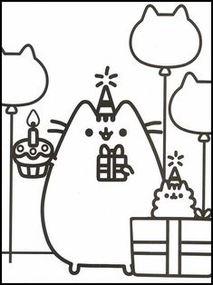 Pusheen 73 Printable coloring pages for kids Pusheen Coloring Pages, Cat Coloring Page, Online Coloring Pages, Cartoon Coloring Pages, Printable Coloring Pages, Colouring Pages, Coloring Pages For Kids, Coloring Sheets, Coloring Books