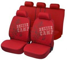 Autositzbezug Belize rot aus reiner Baumwolle