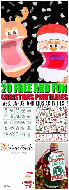 20 Christmas Printables that are sure to make your season merry and bright! Download 20 of the best Christmas Printables out there from holiday cards to
