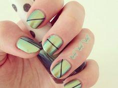 sparkle segment nails