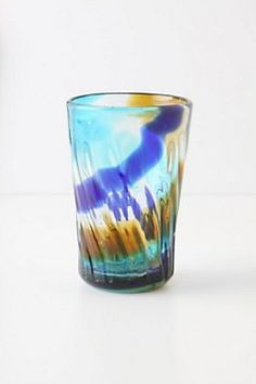 Anthro. glass tumbler.   I'd love to try my hand at glass blowing.  It would be fun to make my own unique tumblers.