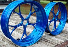 blue wheel rims