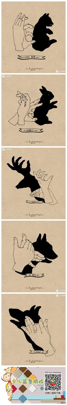 shadow puppets, how to make a bear shadow puppet, a bunny shadow puppet, a deer with amazing antlers shadow puppet. Great silly artistic fun to do with kids before bedtime! Activities For Kids, Crafts For Kids, Hand Shadows, Shadow Puppets, Hand Puppets, Shadow Art, Summer Fun, Cool Kids, Fun Facts