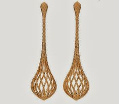 Brazilian designer Carla Amorim was inspired by the formation of sand dunes for these rose gold earrings.