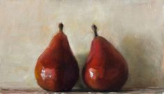 Postcard from Provence. Two Red Pears.