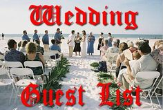 how to organize a wedding guest list