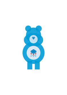 Minimalist Images of Beloved Childhood Characters: carebear