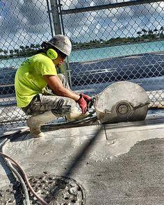Be one with the saw lol  #portofmiami #miamibeach #concretecutting #concreteconnection #construction #miami #generalcontractor #demolition #florida #speedy #constructionsite #concrete #concretecuttingmiami