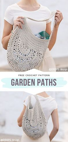 How to Crochet Garden Paths How to Crochet Garden Paths,Crochet Bags and Totes Garden Paths Free Crochet Pattern Are you a fan of minimalism in fashion? This crochet bag is the definition of it. Bag Crochet, Crochet Market Bag, Crochet Handbags, Crochet Purses, Free Crochet Purse Patterns, Crochet Top, Crochet Disney, Stitch Patterns, Knitting Patterns
