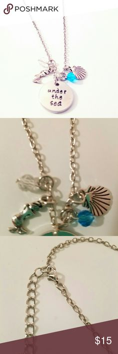 """❌FLASH SALE❌Under the Sea Necklace New under the sea necklace. Has mermaid and shell charms. Lead and nickel free. Made of zinc alloy. The chain is 18"""" long. Jewelry Necklaces"""