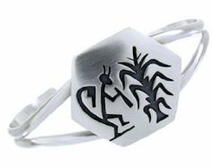 George Phillips Silver Hopi Cricket And Corn Stalk Cuff Bracelet BW64736 SilverTribe. $139.99