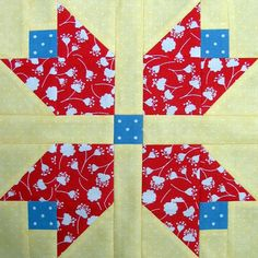 Starwood Quilter: Tulip Quilt Block ~ how can you not like the tulip pattern, right?