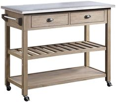 100  Farmhouse Bar Carts and Rustic Kitchen Carts for your Farmhouse Style Kitchen. We absolutely love farmhouse kitchen island carts and rustic bar carts because they are beautiful and functional. Small Kitchen Cart, Metal Kitchen Island, Kitchen Utility Cart, White Kitchen Cart, Kitchen Trolley Cart, Farmhouse Kitchen Island, Rustic Kitchen, Kitchen Islands, Farmhouse Bar Carts