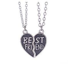 MayLove 2pcs Mother /& Daughter Rhinestone Split Heart Pendant Bracelets Set