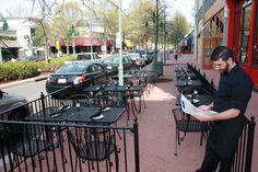 restaurant patio fence - Google Search