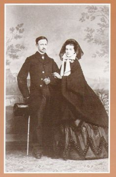 Queen Maria Sophie with King Francesco II of the two Sicillies