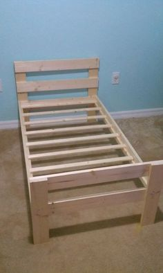 DIY toddler bed. Detailed instructions.