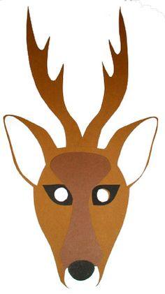 masque cerf, un masque pour le déguisement - Tête à modeler