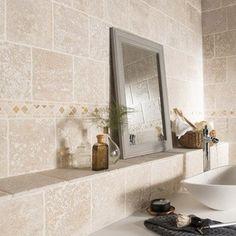 Carrelage salle de bain marbre clair brut | Projets à essayer ...