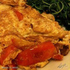 オムレツとほうれん草 #omlet #spinach #lunch #food #philippines