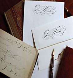 Personalized Spencerian Stationery from Victorian Trading Company