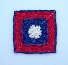 "Ravelry: Patriot Star - 8"" square pattern by Melinda Miller"
