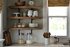 open kitchen shelves - Google Search