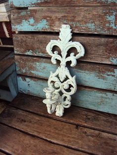 Vintage Shabby Chic Candelabra Wall Sconce Candle Holder