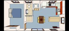 Home how turn small garage into comfortable and stylish apartment - Bathroom Design Ideas Keep movin Studio Apartments, Garage Apartments, Garage Studio Apartment, Lofts, Garage To Living Space, Small Garage, Garage Turned Into Living Space, Modern Garage, Garage Renovation