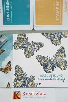 Diese Kartenidee richtet sich an alle Stempelanfänger. Mit dem aktuellen Designerpapier Schmetterlingsschmuck (Aktion geht vom 02. März bis 03. Mai 2021 oder solange der Vorrat reicht) und dem schönen Stempelset Butterfly Brilliance, könnt Ihr einfach und schnell wunderschöne Karten basteln. Wie, das seht Ihr in den Bildern auf meiner Webseite. Paper, Website, Action, Card Crafts, Love, Projects, Creative, Simple