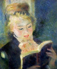 Pierre-Auguste Renoir (1841-1919) La liseuse entre 1874 et 1876 huile sur toile H. 0.465 ; L. 0.385 musée d'Orsay, Paris RF 3757, LUX 377