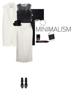 """""""MNMLSM"""" by juliasteiwer ❤ liked on Polyvore featuring INC International Concepts, By Malene Birger, Protagonist, LD Tuttle, Butter London, Alberta Ferretti, Gina Melosi, NYX, Elie Tahari and Ann Demeulemeester"""