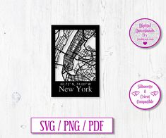 New York City Road Map Digital Download Decal by JumbleinkDesign on Etsy City Road, City Maps, Handmade Items, Handmade Gifts, Paper Cutting, New York City, Decals, Digital, Etsy