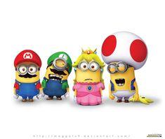 Mario Minions by Maggotx9.deviantart.com on @DeviantArt