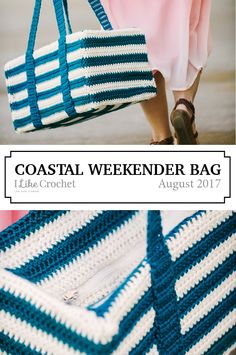 Carry all your things in style with this weekender bag. Whether you're headed near or far, this bag can be by your side holding all of your weekend essentials. Crochet Bags, Knit Crochet, Crochet Designs, Crochet Patterns, Cozy Blankets, Weekender, Crocheting, Purses And Bags, Baskets