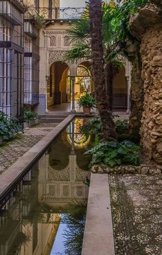 """See 984 photos from 17651 visitors about spain, tapas, and beautiful city. """"My wife and I have been travelling through Europe for the past 6 months. Spanish Garden, Spanish House, Spanish Architecture, Islamic Architecture, Places In Spain, Oh The Places You'll Go, Beautiful Buildings, Beautiful Places, Travel Through Europe"""