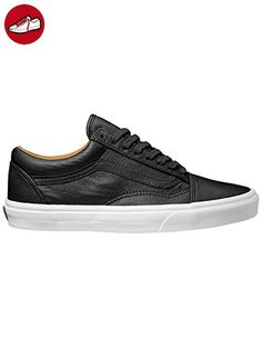 Vans Old Skool, VZDFEW9, Unisex-Erwachsene Sneakers, Schwarz (Premium  Leather)