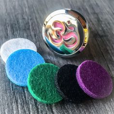 Car Clip Aromatherapy Essential Oil Diffuser, Om design: Reusable air fresheners for the car or any personal space. Create a personalized scent and look, in an environmentally friendly way! Our Aromatherapy Car Clips measuring 3cm in diameter are made of a high quality stainless