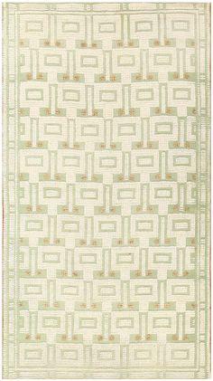 Vintage Scandinavian Swedish Carpet 48442