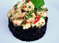 Calamari si creveti cu orez negru