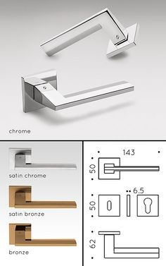 Maali Modern Door Handles (130R)