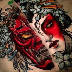 Znalezione obrazy dla zapytania japanese demon tattoo