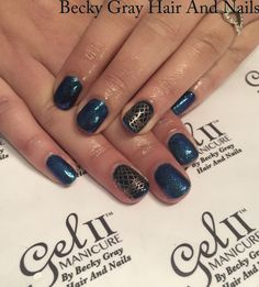 #gelii #manicure timeless teal #magpieglitter #magpiebeauty cindy #nailart #showsratch #tcbg