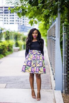 black top on ankara skirt