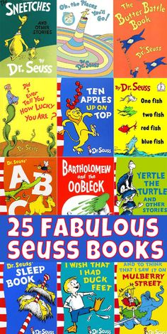 Get ready for Dr Seuss birthday on March 2nd with these 25 fabulous Seuss titles kids will love!