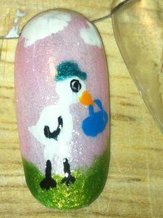 Baby Shower nail art