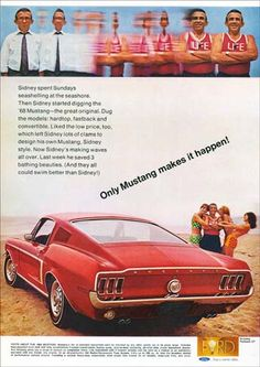 Research Magazine Advertisements. The Best Resource on the Net of Vintage Ads! Mustang GT by Ford. 1968 Ford Mustang Fastback, Ford Mustang Shelby, Mustang Cars, Ford Mustangs, Mustang 1964, Bicicletas Raleigh, Car Advertising, Us Cars, Ford Motor Company